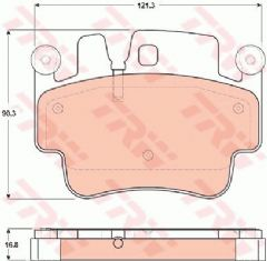 Brake pads Front Carrera 4S Turbo & GT3